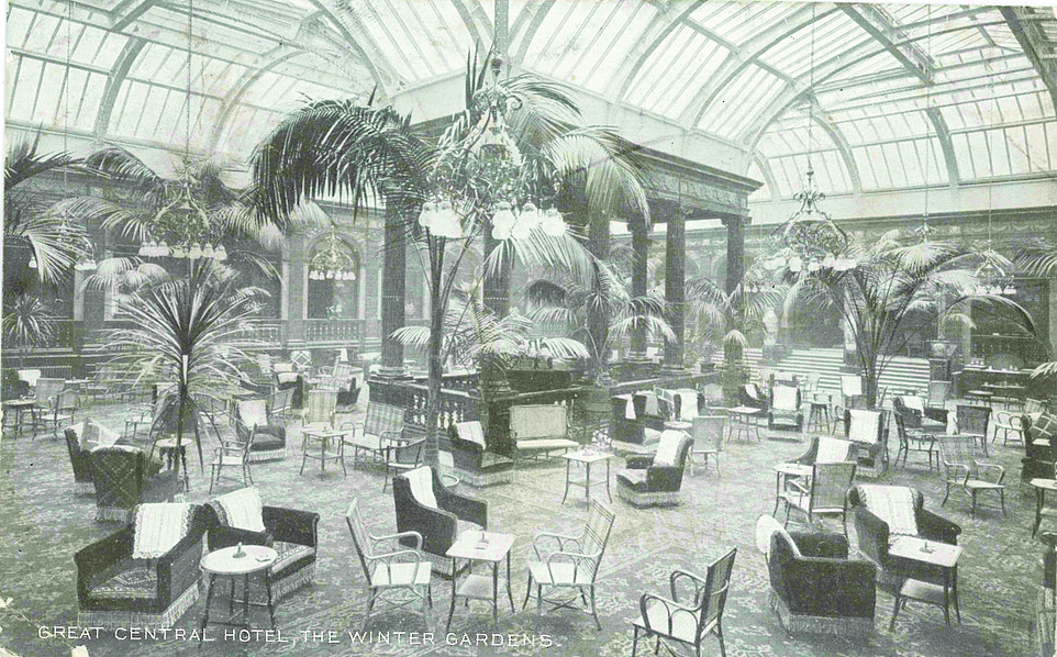 The Winter Gardens, shown above at the end of the 19th century, is now one of London's most sought-after places for afternoon tea