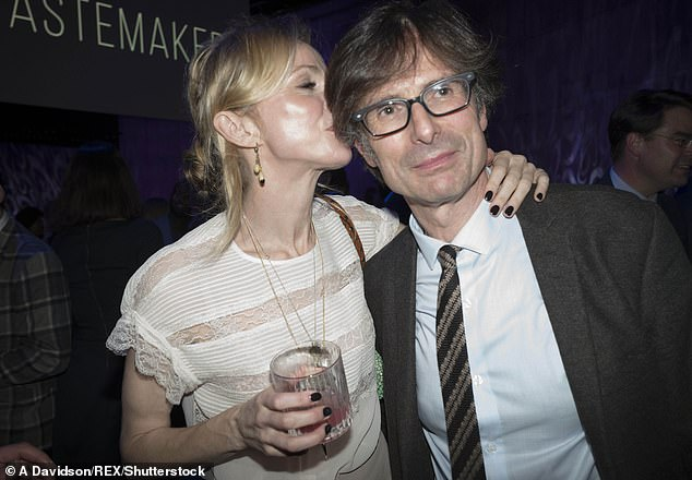 Charlotte Edwardes (left) revealed how her boyfriend Robert Peston (right) slept with his 30-something driving instructor when he was just 18