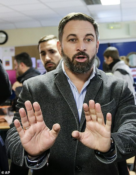 Santiago Abascal, leader of far-right Vox Party