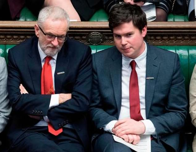 Labour leader Jeremy Corbyn and Labour shadow minister Dan Carden in the House of Commons