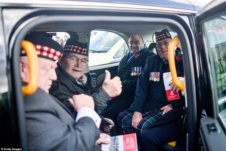 Waiting around the corner, as they do every year, were hundreds of London cabbies preparing to ferry veterans across the capital free-of-charge. Some familiar faces, however, were missing