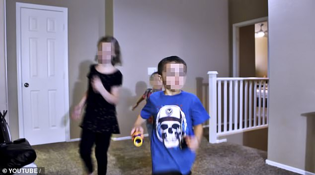The adopted children told police that Hobson beat and locked them up if they failed to remember their lines or perform as demanded in the videos