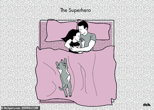 Protector: A superhero at the end of the bed is ready to move at the sign of any disturbance
