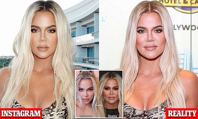 Image result for Khloe Kardashian is blasted after being exposed for over-editing her photos
