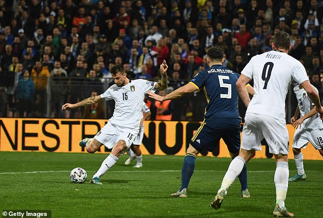 Francesco Acerbi gave Italy the perfect start with the opening goal on 21 minutes