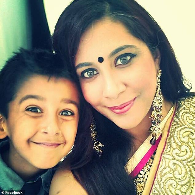 Meera Naran, whose eight-year-old son Dev (pictured together) died in a crash on a smart motorway in May 2017, spoke out this morning about the dangers of smart motorways saying 'there is no safety' on them.