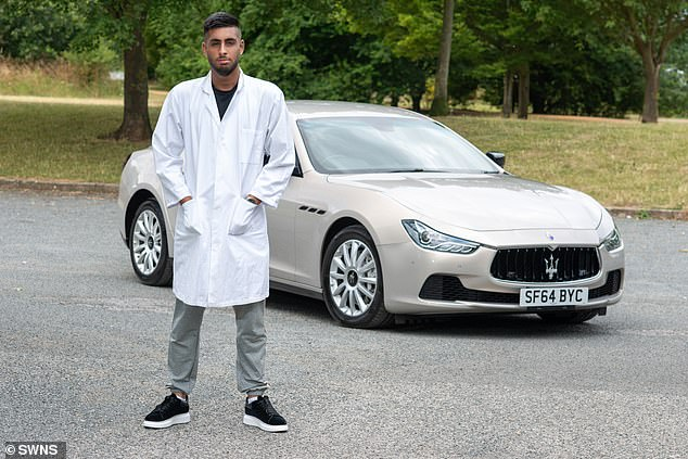 During the past year the student has also bought and sold an Audi A5, an Audi A1, and a £10,000 BMW 7 Series and a 6 Series