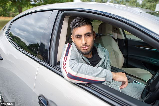 In addition to his Maserati, he also has a £22,000 Mercedes-Benz S-Class and a £13,000 Jaguar