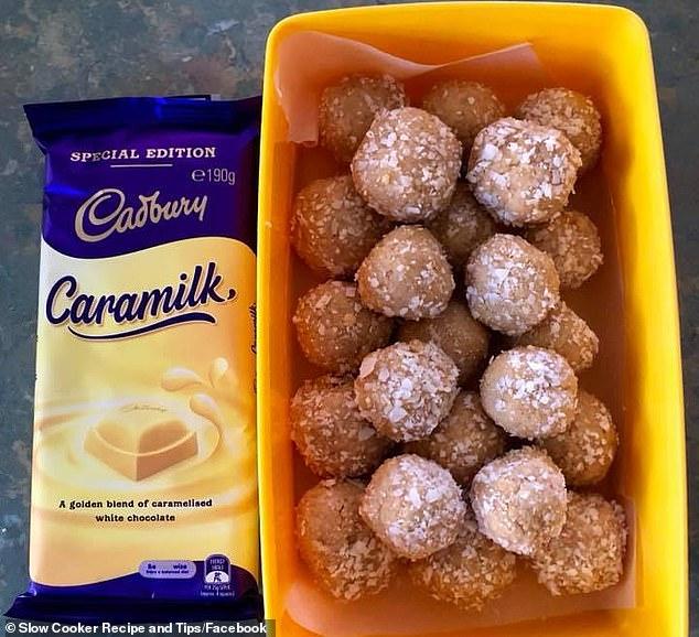 Social media has gone into overdrive over a bliss balls recipe made using a block of Cadbury's Caramilk