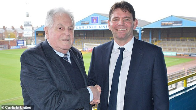 Chris Beech (right) has left his role as Carlisle manager after a poor start to the season