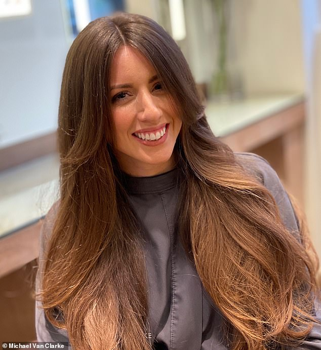His main tips are to find the best equipment for the hairstyle you want to achieve and not to overdry. Michael's hair model is seen after her blow dry