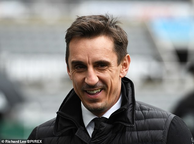 Gary Neville arriving at St James' Park in October as a pundit for broadcaster Sky Sports