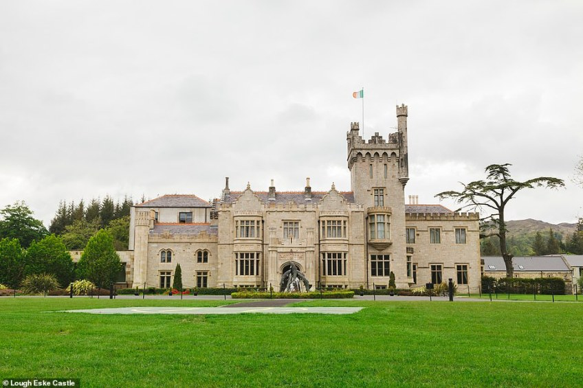 Lough Eske Castle, pictured, which has stood on the banks of Lough Eske in County Donegal since 1861