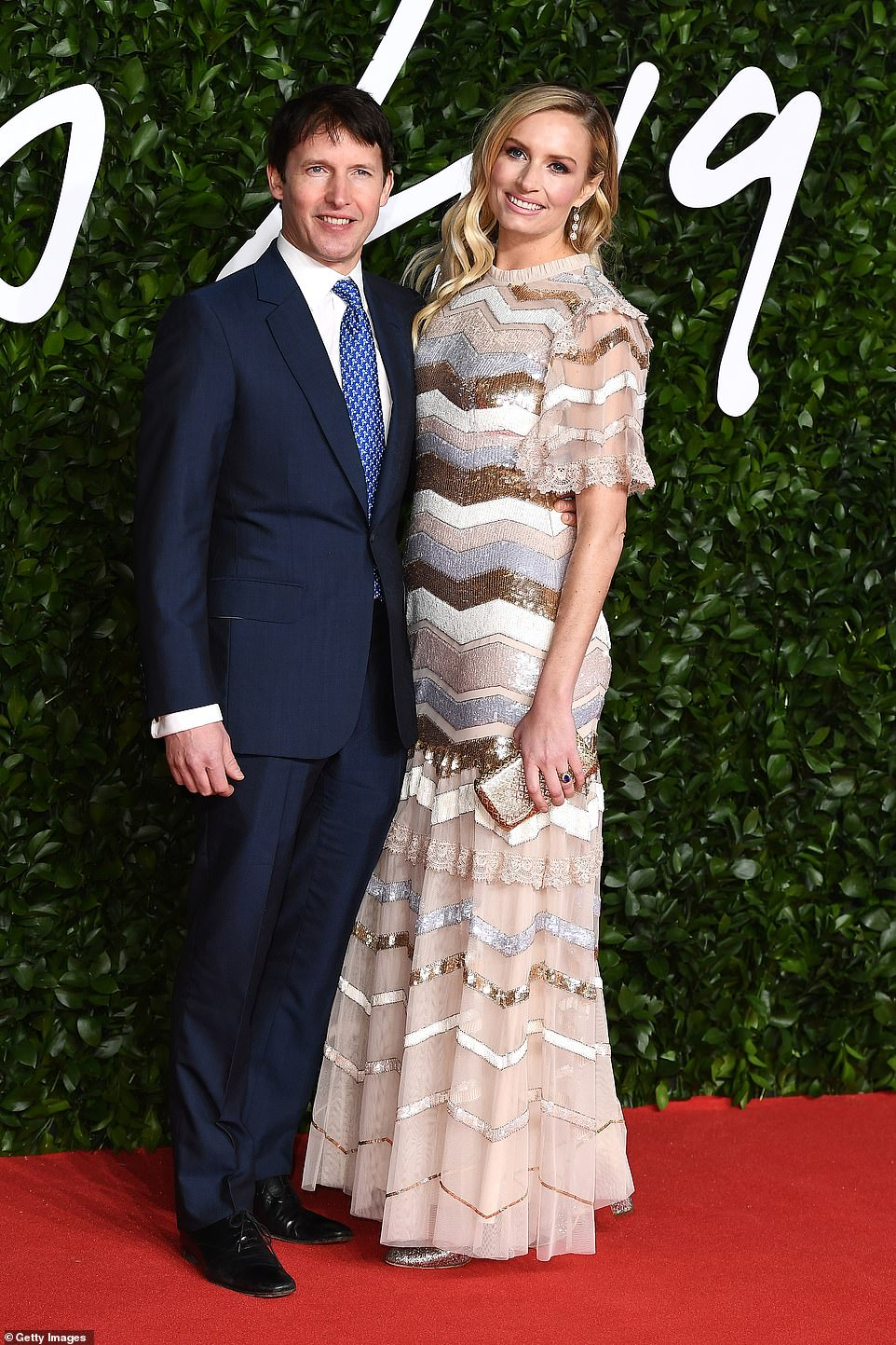 Hitting the right notes: Singer-songwriter James Blunt and his wife Sofia, who wore Needle & Thread, attended the event