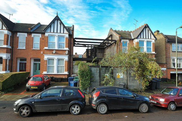 Passers-by are still struck by the large crater in the centre of an otherwise attractive terrace of houses where Ed andJacquie's house once stood
