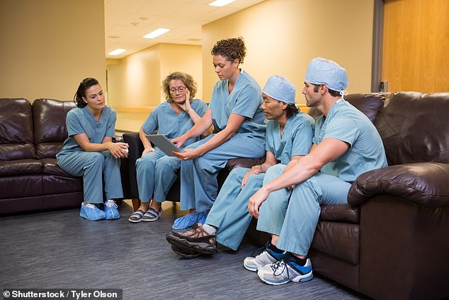 One in four NHS hospital staff were born outside the UK, official figures show (stock image)