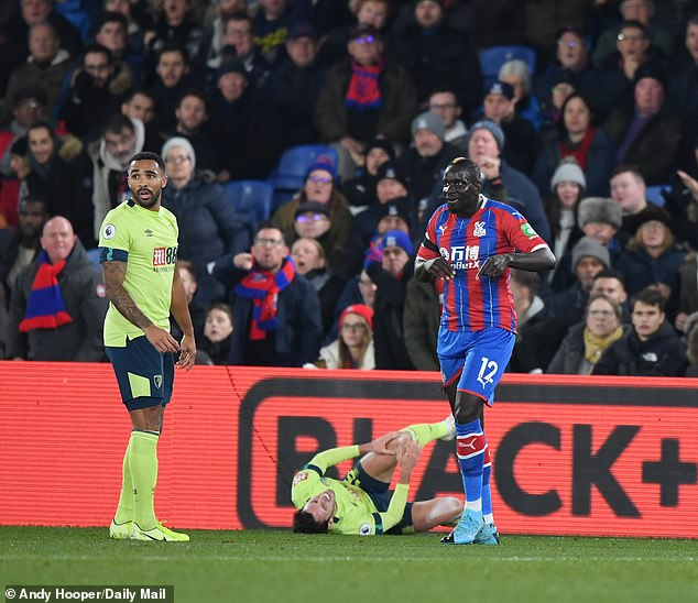 Sakho caught Smith's knee on his follow through after throwing himself into the challenge