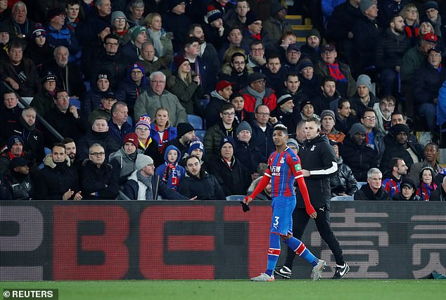 Palace suffered another early blow whenPatrick van Aanholt was forced off by injury