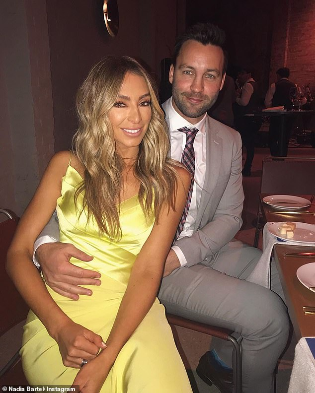 Split: Nadia Bartel's (left) split with her former AFL star husband Jimmy (right) made headlines in 2019, long before video of the former WAG 'snorting cocaine' at a gathering in Melbourne circulated on social media on Thursday. Following the split, Nadia embraced single life