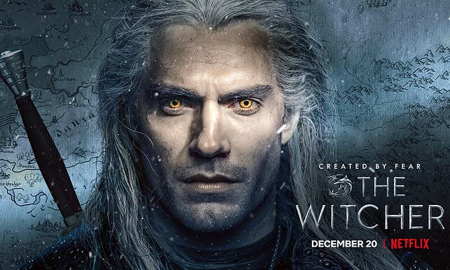 Henry Cavill smoulders as Geralt Of Rivia in posters for The Witcher