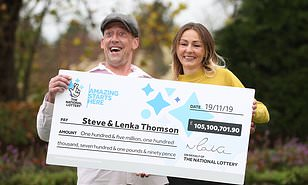 modest builder who scooped 105m euromillions jackpot pictured back at work daily mail online