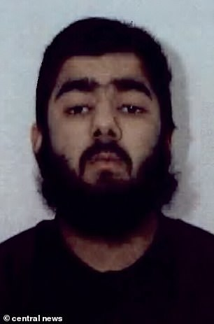 Usman Khan (pictured)stabbed two people to death and injured three others near London Bridge at the end of November