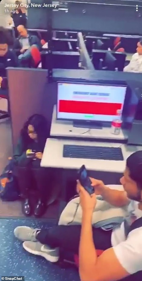 Snapchat video from inside the school showed students sitting in the hallway and cowering under desks
