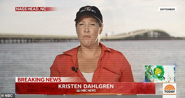 While reporting on a hurricane about to make landfall in North Carolina, Dahlgren dashed to a local hospital to get a mammogram and ultrasound
