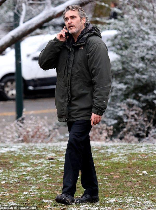 Joaquin Phoenix spotted filming in Central Park after SAG Award nom