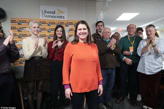 Lib Dem leader Jo Swinson (pictured) could be under threat in East Dunbartonshire if the SNP has a very good night. The nationalists won the seat in 2015, but Ms Swinson took it back in 2017