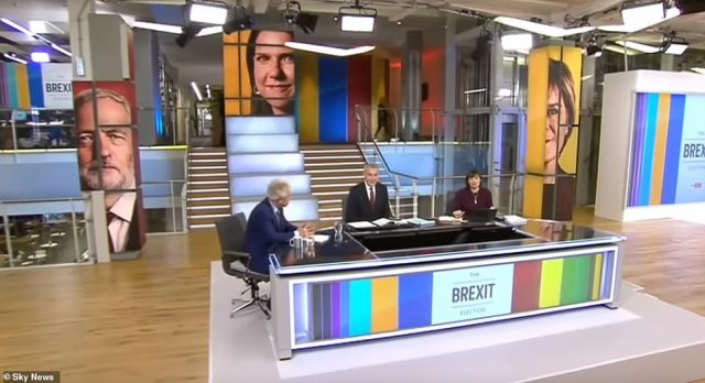 Exit poll: When polling stations close at 10pm, broadcasters including Sky News (above) will reveal the results of an exit poll which will give the first indications about the results