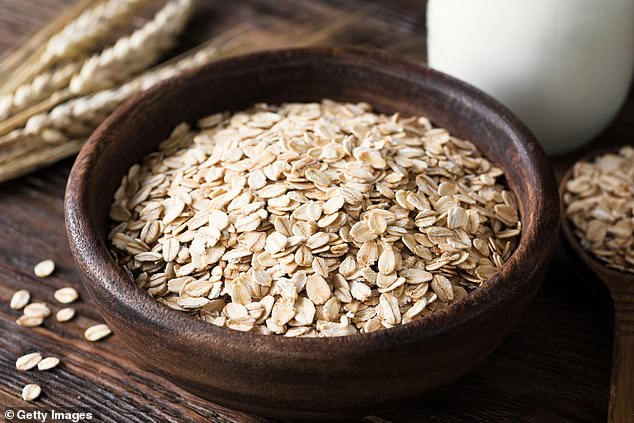Oats can help to improve the quality of your sleep due to them containing vitamins and minerals to support relaxation. Pictured: stock image