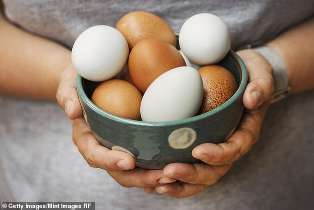 Eggs are high in vitamin D and contain tryptophan, both of which are renowned for their sleep-inducing properties. Pictured: stock image