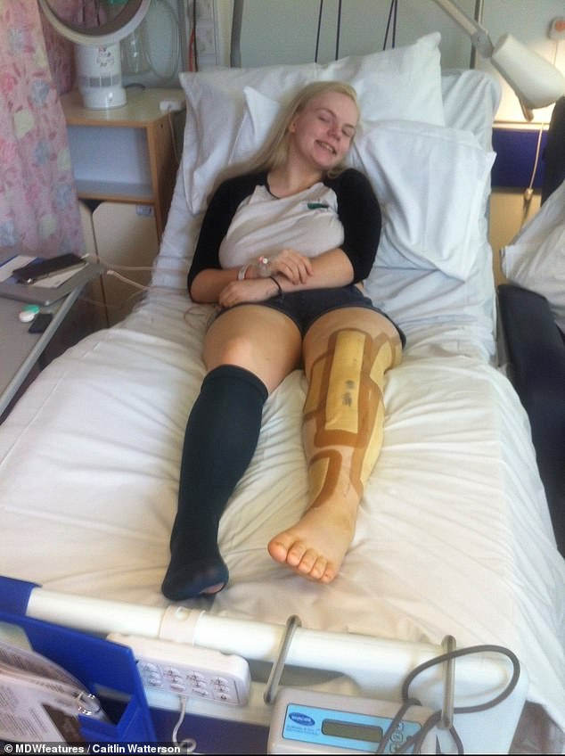 As well as learning to cope with pain, Ms Watterson (recovering after surgery) has had to rely on walking aids and wheelchairs which has seen strangers hurl abuse at her in the past