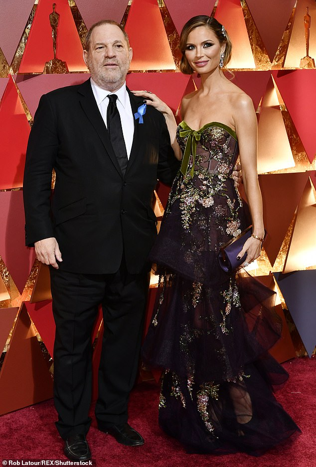 Weinstein (pictured with Georgina Chapman at the 89th Annual Academy Awards in 2017) has denied five charges of rape, sexual assault, and 'predatory sexual assault'