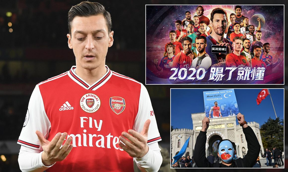 Arsenal star Mesut Ozil removed from PES 2020 in China after Uighur Muslims  post | Daily Mail Online