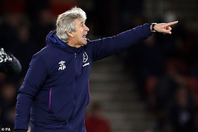 West Ham's under fire boss Manuel Pellegrini is looking to freshen his squad in January