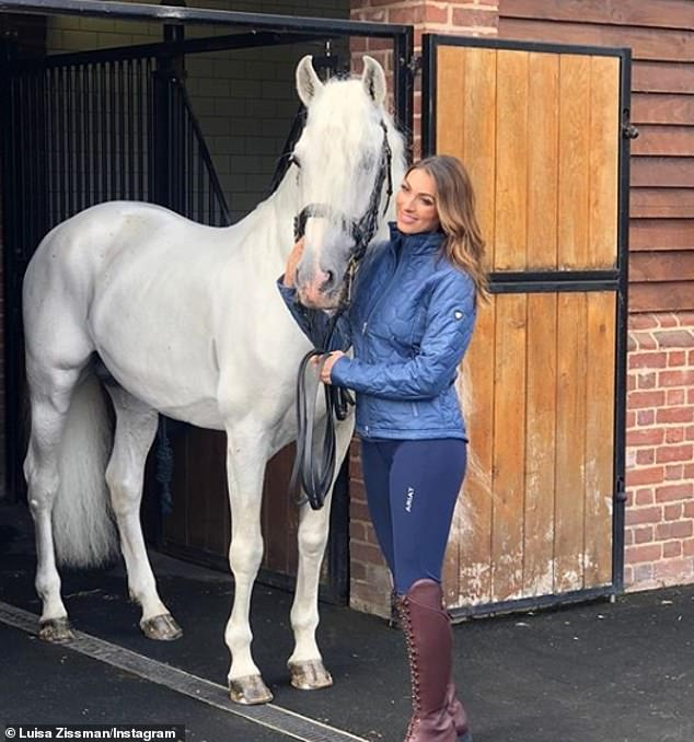 Sad news: Luisa revealed her stallion had sadly passed away in December 2019 - and immediately announced her plan to get him stuffed by a taxidermist