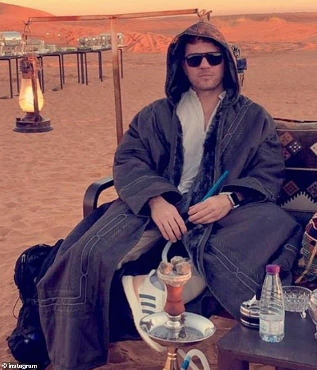 Phillippe (pictured in Saudi) has been lashing out at people commenting on his Instagram posts