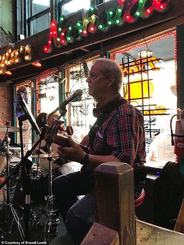 He started feeling lethargic in November and, after doctors' visits and blood tests, he was told his cancer had returned. Pictured: Pennington playing at Layla's bar in Nashville in 2018