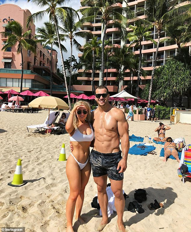 Mullen (pictured with partner)told police in May he also regularly abused prescription drugs after his football days were over but had been clean since he overdosed at his parents' house in December 2018