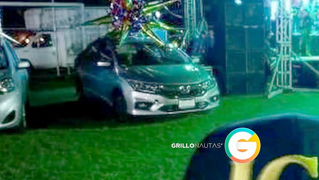 A Honda Civic was among 10 vehicles given away to residents of a town in Sinaloa, Mexico, as part of a Christmas holiday party put together El Chapo's old Sinaloa Cartel