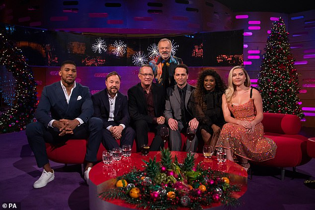 New Year's special: Motsi will appear on the show alongside Anthony Joshua, Stephen Graham , Tom Hanks, Matthew Rhys, Melanie Chisholm and Florence Pugh