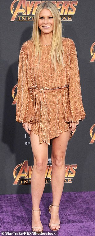 Gwyneth Paltrow at the Avengers: Infinity War film premiere , Los Angeles