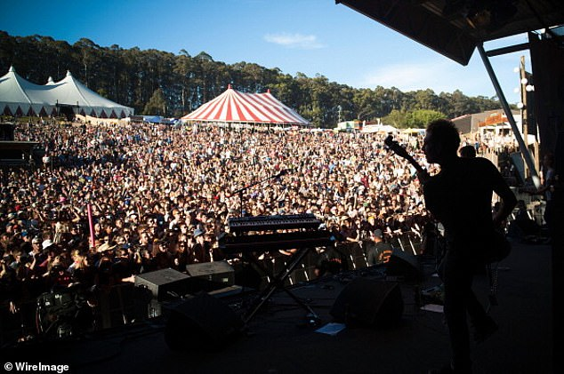 Back on the road:Halsey will appear at Marion Bay (South Australia), Byron Bay (New South Wales) and Fremantle's (Western Australia) Fall Festival dates, as they are still going ahead as scheduled
