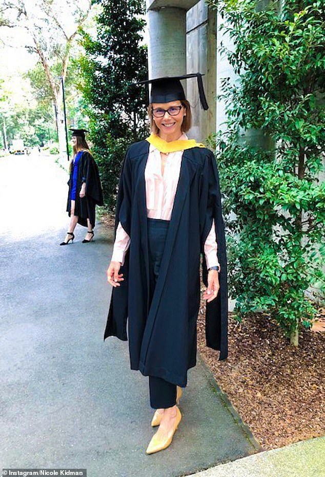 Graduate: In addition to juggling motherhood, Antonia also managed to graduate with a law degree last April
