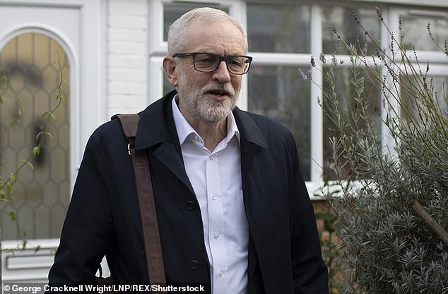 Jeremy Corbyn (pictured at his London home last month) has tabled an amendment to the EU Withdrawal Bill that would extend the transition period until 2023 in the absence of a comprehensive agreement