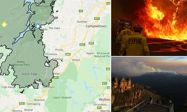Bushfire heading towards western Sydney could hit the suburban areas