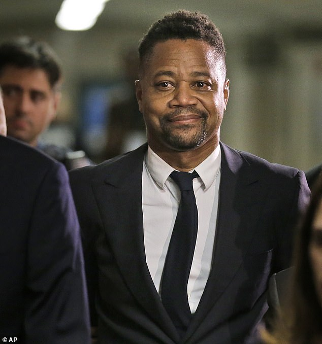 Cuba Gooding is pictured leaving Manhattan Criminial Court in October after he was accused of sexually assaulting three more women.The actor is due back in court on January 22