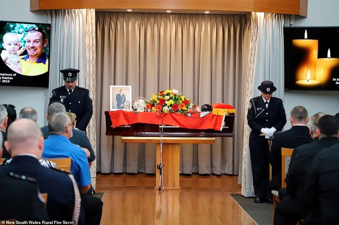 Mr O'Dwyer's funeral comes less than a week after a touching farewell for his fallen colleague Geoffrey Keaton, who died next to him on December 19